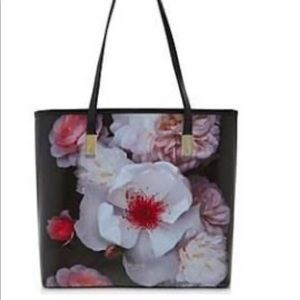 Ted Baker Chelsea Small Leather Tote Floral Design